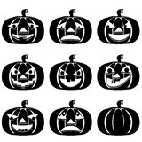 Pumpkins. Set for Halloween. Royalty Free Stock Photography