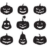 Pumpkins set Royalty Free Stock Photography