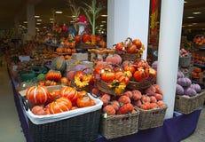 Pumpkins in supermarket. Stock Images