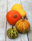 Pumpkins on the table Royalty Free Stock Photo