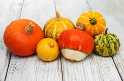 Pumpkins on the table Stock Photography