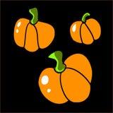 Pumpkins. Three pumpkins for holiday of Halloween Stock Photos