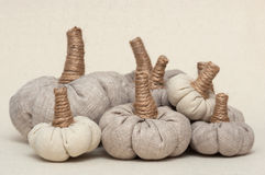 Pumpkins toys royalty free stock photography