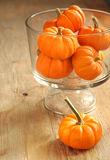Pumpkins in a vase Royalty Free Stock Photos