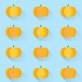 Pumpkins vector background Stock Images