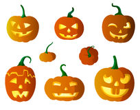 Pumpkins vector illustration Royalty Free Stock Photography