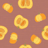 Pumpkins. vector seamless pattern Royalty Free Stock Images