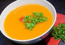 Pumpkins vegetarian soup Royalty Free Stock Photo