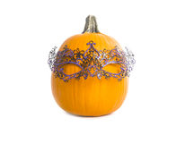 Pumpkins Wearing Mask #1 Stock Image