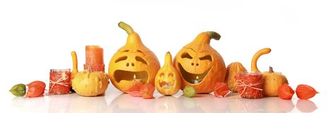 Pumpkins on white Royalty Free Stock Photography