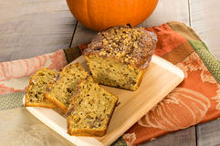 Pumplin walnut bread on cutting board Royalty Free Stock Photography