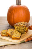 Pumplin walnut bread on cutting board Royalty Free Stock Photos