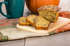 Pumplin walnut bread on cutting board Stock Image