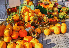 Pumpor på fruktmarknaden Royaltyfri Bild