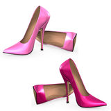 Pumps. Illustration of pink high heels Royalty Free Stock Images