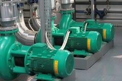 Pumps in boiler-house Stock Photos