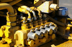 Pumps and pipes. Hydraulic machinery Stock Images