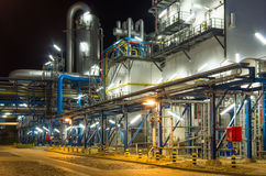 Pumps and piping in industrial plant royalty free stock photography