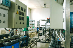 installation of industrial membrane devices Royalty Free Stock Photos