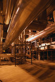 Pumps on power plant. Pumps and pipes on power plant Royalty Free Stock Image
