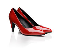 pumps red Royaltyfri Bild