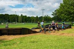 Pumpspåret i Wasena parkerar, Roanoke, Va Arkivfoton
