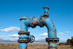 Pumpvatten för bevattningjordbruk Arkivfoton