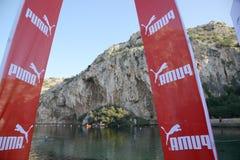 Pumy wydarzenie Biega jezioro - Ateny, Grecja Zdjęcia Royalty Free