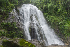 Pun Ya Ban Waterfall at Lamnam Kra Buri National Park in Ranong, Royalty Free Stock Images