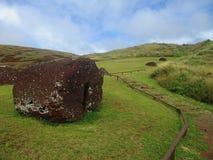 Puna Pau Pukao wycieczka turysyczna, Wielkanocna wyspa Chile fotografia royalty free