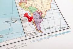 Punaise dans une carte Images stock