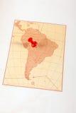 Punaise dans une carte Image stock