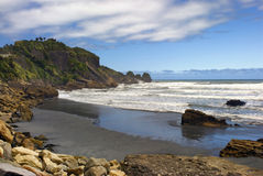 Punakaiki beach, West Coast, South Island, New Zealand Royalty Free Stock Photo
