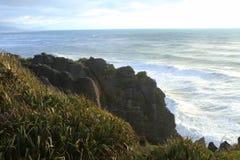 punakaiki naleśnikowe skały zdjęcia stock
