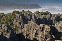 Punakaiki pancake rock, New Zealand Stock Images