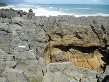 Punakaiki pancake rock stock image