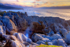 Punakaiki Pancake Rocks Stock Photo