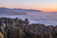 Punakaiki Pancake Rocks and Blowholes, West Coast, New Zealand Stock Images