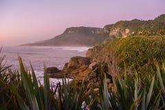 Punakaiki Pancake Rocks and Blowholes, West Coast, New Zealand Stock Image