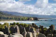 Punakaiki Pancake Rocks, New Zealand Royalty Free Stock Photos