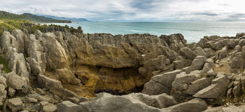 Punakaiki Pancake Rocks in Paparoa National Park, New Zealand Royalty Free Stock Photo