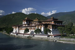 Punakha Dzong Στοκ φωτογραφία με δικαίωμα ελεύθερης χρήσης