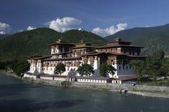 Punakha Dzong Royaltyfri Fotografi