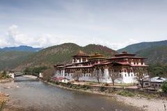 Punakha Dzong在不丹 图库摄影