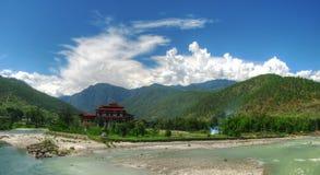 Punakha Dzong, старая столица Бутана стоковое фото