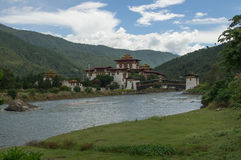 Punakha Dzong стоковые изображения rf