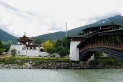 Punakha Dzong Arkivfoto