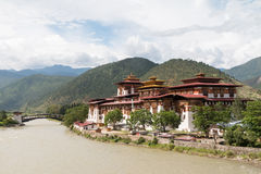 The Punakha Dzong, the administrative centre of Punakha dzongkhag in Punakha, Bhutan. The Punakha Dzong is the administrative centre of Punakha dzongkhag in stock image