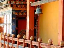 Bell at Punakha Dzong, Bhutan stock image