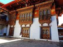 Punakha Dzong, Bhutan. The Punakha Dzong, also known as Pungtang Dewa chhenbi Phodrang meaning `the palace of great happiness or bliss`, is the administrative stock photos